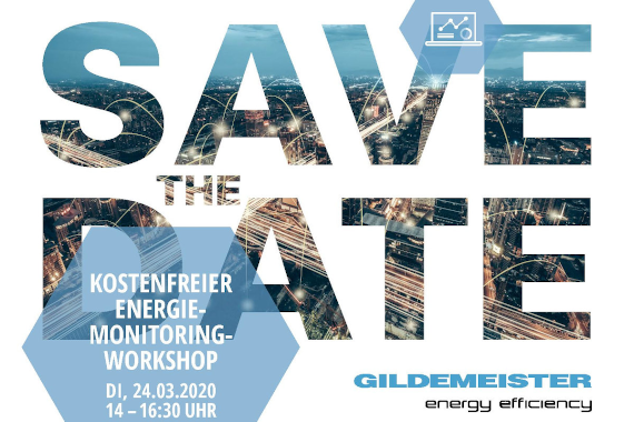 Kostenfreier Energiemonitoring-Workshop GILDEMEISTER energy efficiency