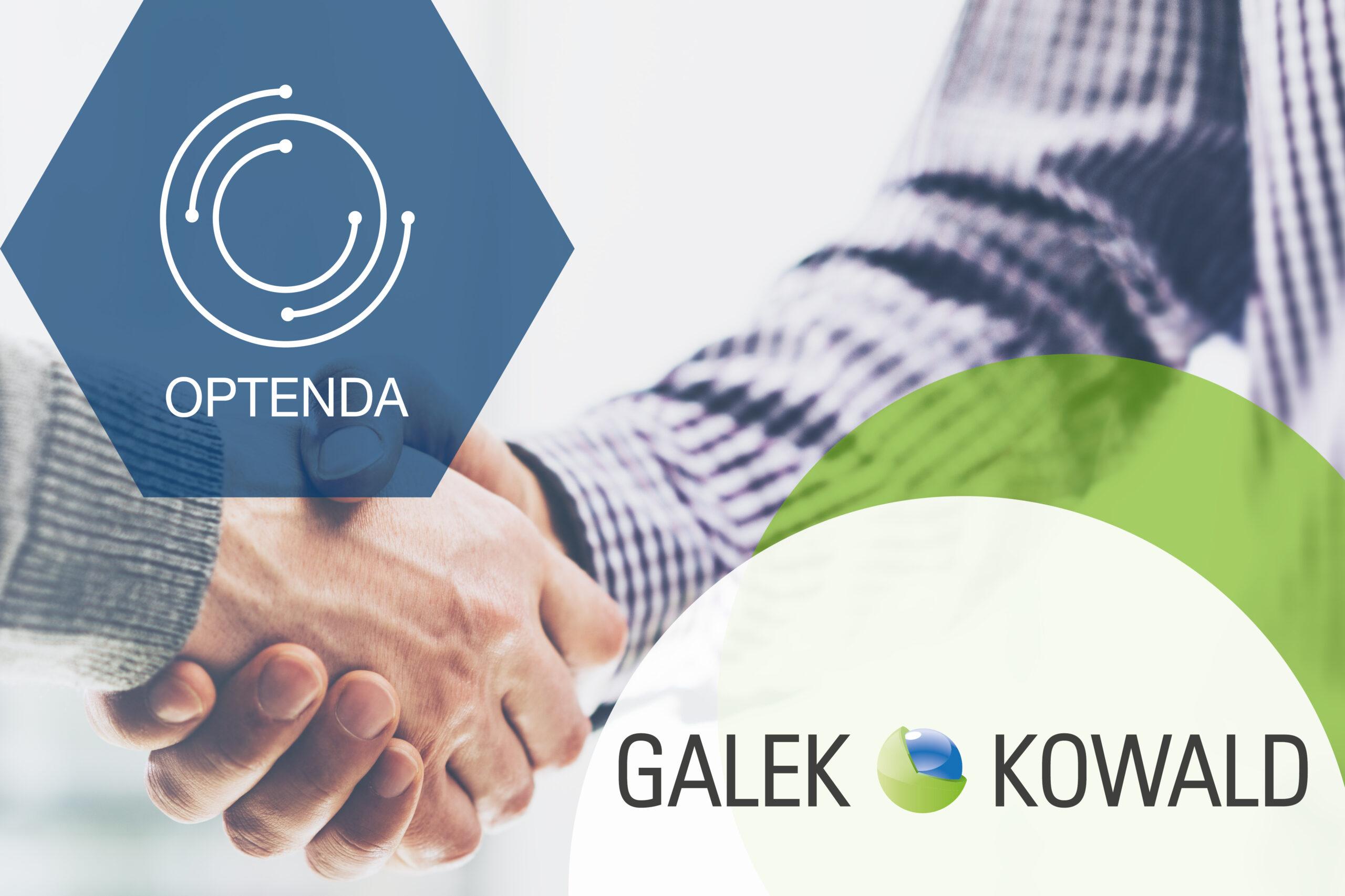 Kooperation zwischen OPTENDA und Galek & Kowald Handschlag