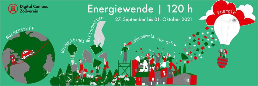 Key Visual der Veranstaltung Schulterblick 120h des Digital Campus Zollverein e.V.
