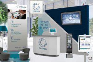 Digitaler Messestand von OPTENDA auf der EnergieEffizienzMesse NRW