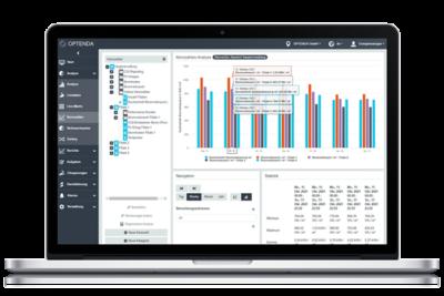 OPTENDA Energy Monitor Funktionen Kennzahlen Filialist